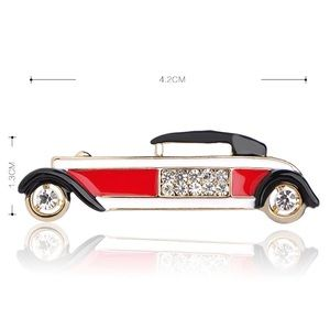 Jewelry - Crystals Fashion Red Car Brooch